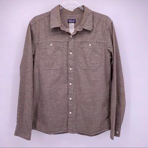 Patagonia Organic Cotton Brown Button Down Shirt